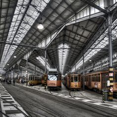 Tram garage in the Ticinese district, Milano Picture by Filippo Bianchi…