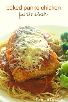 Baked Panko Chicken Parmesan on Tone-and-Tighten.com