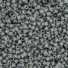 Size 11 Opaque Gray Delica Beads - DB0731