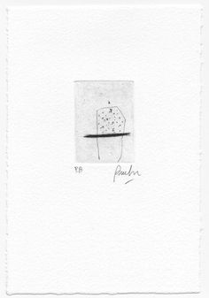 Black and White Tiny Print. Abstract Etching. Small by beamahan