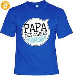 Vater Sprüche Tshirt - cooles für Papa : Papa des Jahres Vorbild -- Geschenk T-Shirt Vatertag Geburtstag Gr: S (*Partner-Link)