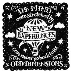 New Experiences - Random Doodle no.15 by Alexandra Snowdon, via Flickr