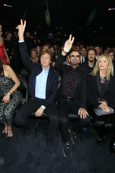 Highlights From Backstage At The 2014 GRAMMY Awards Ringo StarrGrammy AwardPaul McCartney