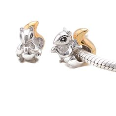 Sterling Silver animal Squirrel charm bead for by charms925