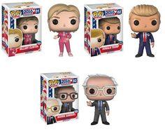 Funko Pop! Vinyl Donald Trump, Hillary Clinton, Bernie Sanders Figures Set of 3: Toys & Games