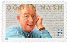 2002 37c Ogden Nash, s/a - Catalog # 3659 For Sale at Mystic Stamp Company