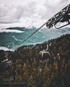 Gondola rides in Vancouver by NealKumar  trees canada sky landscape vancouver travel clouds vacation 500px mountain outdoors iphone perspecti