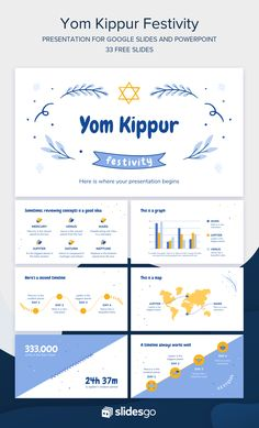 Powerpoint Themes, Powerpoint Template Free, International Day Of Peace, Yom Kippur, Atonement, Online Lessons, Slide Design, School Notes, Presentation Design