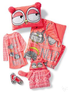 Justice is your one-stop-shop for the cutest & most on-trend styles in tween girls' clothing. Shop Justice for the best tween fashions in a variety of sizes. Cute Pjs, Cute Pajamas, Girls Pajamas, Cute Girl Outfits, Kids Outfits, Tween Fashion, Girl Fashion, Owl Clothes, Girl Sleepover