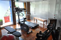 Exercise room. Small, tiny actually, but there was never a wait for the treadmill.