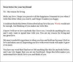Sample Love Letters To Boyfriend   16+ Free Documents In Word, PDF
