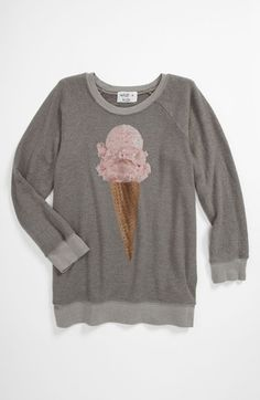 Wildfox 'Breakfast' Baggy Sweatshirt (Big Girls) available at Nordstrom Baggy Sweater Outfits, Sunday Clothes, Whimsical Fashion, Fashion Outfits, Fashion Clothes, Wildfox, Sweater Weather, Cute Outfits, Nordstrom