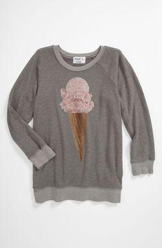 Wildfox 'Breakfast' Baggy Sweatshirt (Big Girls) available at Nordstrom