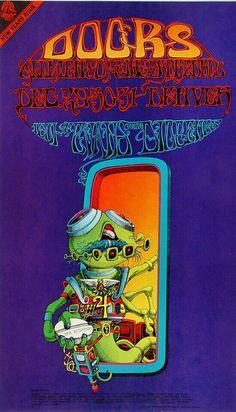 The Doors...December 29,1967 Artist: Rick Griffin