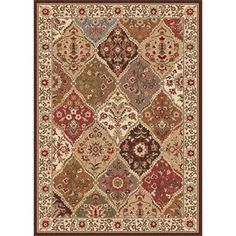 @Overstock.com - Ivory Abstract Area Rug (7'6 x 9'10) - Add texture and warmth to your home decor with this ivory, red, green and blue abstract rug. A durable, allergen-free polypropylene construction adds strength to this rug.  http://www.overstock.com/Home-Garden/Ivory-Abstract-Area-Rug-76-x-910/5770850/product.html?CID=214117 $156.99