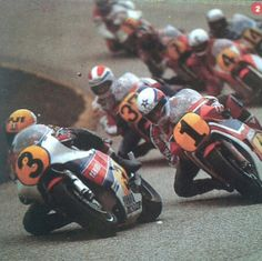 Roberts Lucchinelli Spencer Crosby Sheene Uncini 1982 (chap at back Boet Van Dulman maybe? ???????)