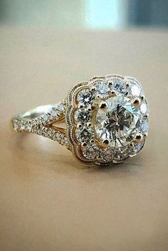 Our collection of vintage engagement rings are timeless and unique as your love. Vintage ring has romantic shape with sophisticated enchanting details. *** Read more at the image link. #Jewelry #vintagerings