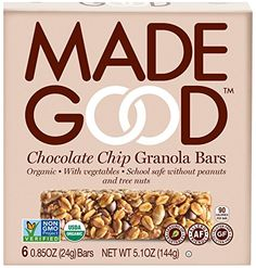 Made Good Granola Bar Chocolate Chip, Case of 6 Boxes Mad...