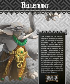 In spite of looking like a dumb brute to many, the Hellephant is actually a powerful sorcerer, using dark magic from a distant land to counter the enchantments heroes might try to use against it. The heroes' attack enchantments triggered by Bams and Diamonds are simply useless against the might of the Hellephant! And it IS also a powerful brute on top of that.