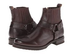 Frye Veronica Harness Chelsea Dark Brown Soft Vintage Leather - Zappos.com Free Shipping BOTH Ways