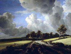 Wheat Fields by Jacob van Ruisdael,  c 1670