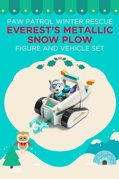 Check out this Everest's snow plow from the PAW Patrol. Just one of the many 12 Days of Nick Jr. Holiday Sweepstakes prizes this year!