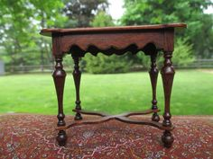 Dollhouse Miniatures Gerald Crawford William Mary Game Table Signed | eBay