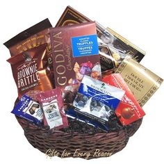 New gluten free vegan 85 toronto gift baskets by gifts for chocolate gift baskets make great gifts to send 95 includes delivery in canada negle Choice Image