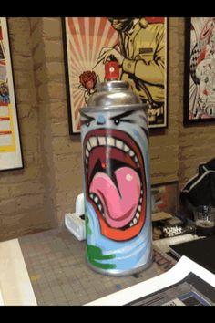BG 183 TATSCRU  painting a super size sprat paint can BG183 MASTER OF STYLE LOVE GRAFFITI  ART? CHECK  https://www.etsy.com/shop/urbanNYCdesigns?ref=hdr_shop_menu