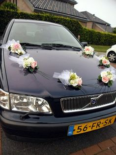 Silk Flowers Arrangement Set of Bouquets For Weding Car