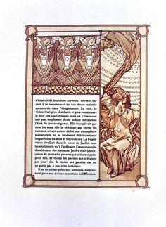 Ilsée, Princesse de Tripoli, by Robert de Flers, illustrated by Alphonse Mucha, Paris : L'Édition d'Art - H. Piazza & Cie ed, 1897