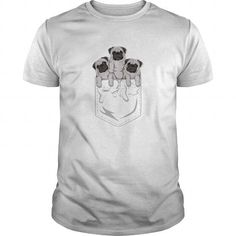 I Love POCKET PUG T shirts