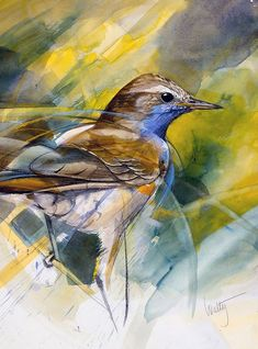 Oil Painting Abstract, Painting & Drawing, Watercolor Paintings, Watercolour, Colorful Abstract Art, Abstract Animals, Bird Artwork, Watercolor Techniques, Wildlife Art