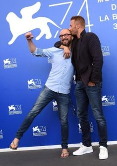 Matthias Schoenaerts en Michael Roskam in Venetië.
