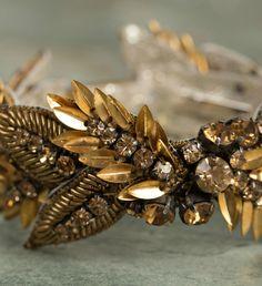 Deepa Gurnani Crystal Pandora Bracelet - GOLD
