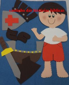 Flannel Board pattern for  Armor of God story. This site is in Spanish but the pattern is very  cute.