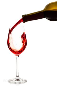 Red wine pouring into wine glass by madhunter7777777