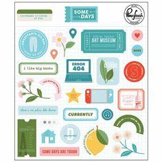 3d Sticker, Alphabet, Big Bottle, Chipboard, Stickers, Studio, Lemon Leaves, Day, Flowers