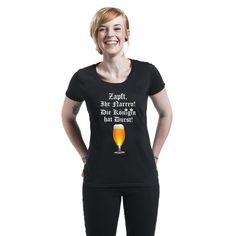 Zapft, Ihr Narren! T-Shirt, Frauen schwarz • EMP