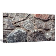 DesignArt 'Natural Granite Stone Texture' Photographic Print on Wrapped Canvas Size: