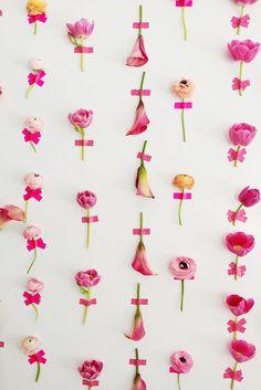 愛らしい花のインテリア*DIYフラワーウォールの作り方 from L.A. | DIY Recipe