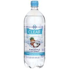 Clear American Pineapple Coconut Sparkling Water - tried this today and it literally tastes like a pina colada minus the calories. add some light rum, Malibu rum and a splash of pineapple juice and VOILA! A lighter pina colada cocktail Coconut Drinks, Coconut Water, Malibu Mixed Drinks, Pineapple Coconut, Pineapple Juice, Lime Juice, Fancy Drinks, Pet Bottle, Refreshing Drinks