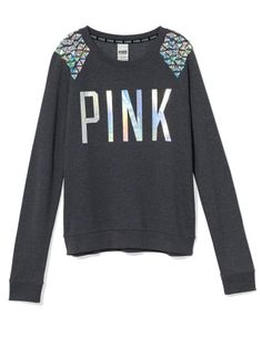 Bling Crew - PINK - Victoria's Secret.I normally wouldn't want to shop there but this is cute!