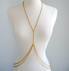 A Blush of Pink!: Accessorizing with a DIY Body Chain.