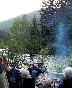 Singing around campfires at Circle K Ranch  http://www.ranchseeker.com/index.cfm/pg/listing_details/id/9562/frompopup/0  #travel #fun #colorado