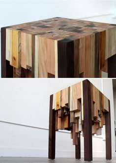 Scrap timber side table