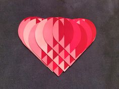 Papercrafts and other fun things: Roses are Red, Violets are Blue, I Would Love a Heart Sliceform, How About You? Sliceform, Christmas Hearts, Paper Weaving, Paper Crafts Origami, Pin Art, Paper Hearts, Paper Folding, Pop Up Cards, Kirigami