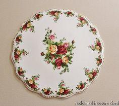 "Royal Albert Old Country Roses Golden Pearl Cake Plate 12"" #RoyalAlbert"