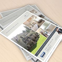 Branding and sell sheet design for realtor. Desrochers Realty Group.