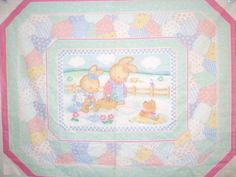 Rabbit Fabric Baby Bunny Fabric Baby Panel by thebusybeequilting, $7.50